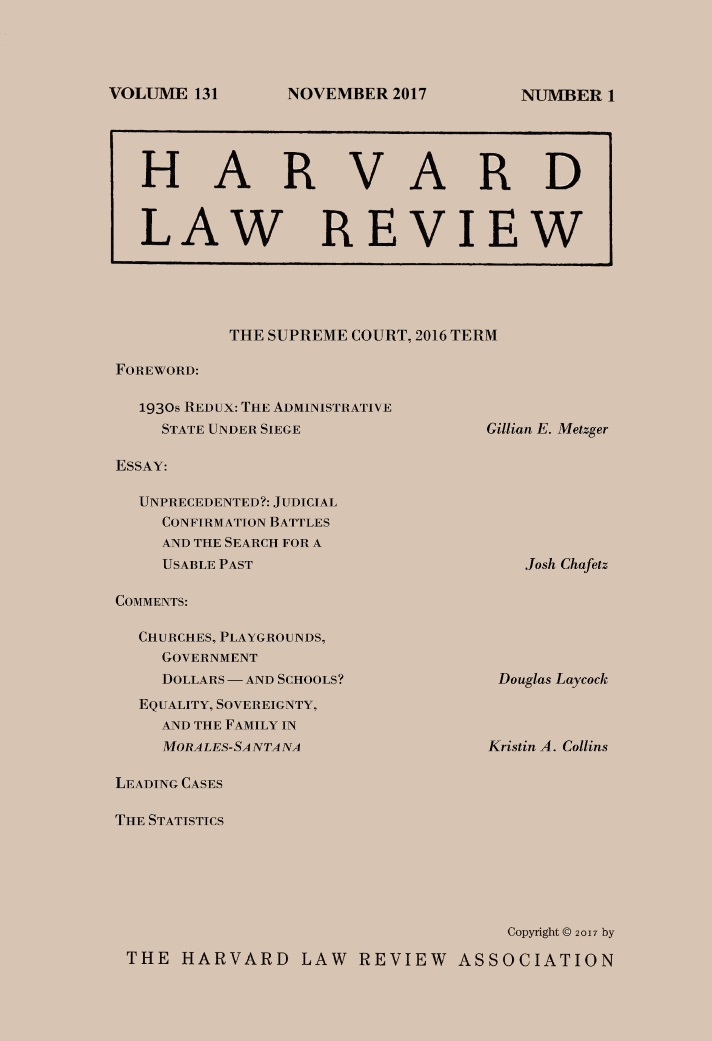 harvard law review s nov issue supreme court review and  harvard law review s nov 17 issue supreme court review and essays on the constitution